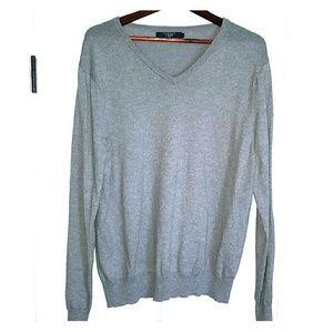 J.Crew Grey v-neck sweater Large cotton cashmere